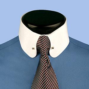 Gary tailor men 39 s custom tailored shirts for Mens eyelet collar dress shirts